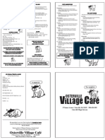 Osterville Village Cafe Menu