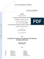 (French) Contribution to the Analysis and Prevention of Blackouts in Power Grids