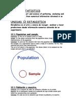 Statistics Unit Vocabulary 3º ESO
