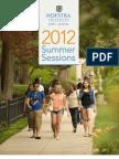 Hofstra University Summer 2012 Bulletin