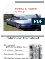 Launching the BMW Z3 Roadster