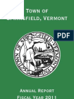Town of Springfield Annual Report 2011