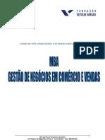MBA Gestão de Negócios Comercio e Vendas MRH FGV