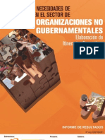 Detección de Necesidades de Formación en el Sector de Organizaciones No Gubernamentales