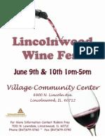 Lincolnwood Wine Fest Packet