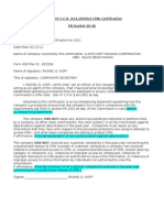 Cpni Certification 2012