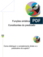 Como Distinguir o Complemento Direto e o Predicativo Do Sujeito