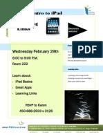 iPad and LL Flyer