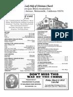 Parish Bulletin 02-26-12