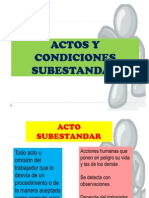 Actos y Condicion Sub Estandar