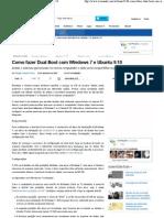 Como Fazer Dual Boot Com Windows 7 e Ubuntu 9