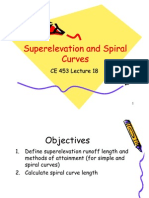 17 Super Elevation and Spiral Curves