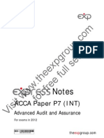 Acca p7 2012 Notes