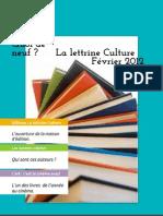 La lettrine Culture février 2012