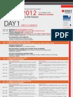 ICSAT2012 Conference Program