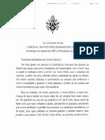 Carta Do Papa Para a CF 2012