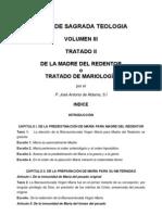 Teología Vol III Tratado II De la Madre del Redentor - Mariología