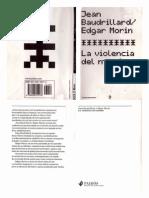 [Jean Baudrillard , Edgar Morin] La Violencia Del org