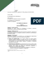 Ley General de Semillas N 27262 (Incluye Modificacion Del DL 1080)