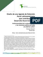 Enrique Alarcon Emilio Ruz Agenda de Extension