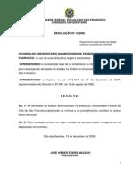 Regulamentação das Atividades de Estágio Curricular no Âmbito da UNIVASF - Resolução 13/2006