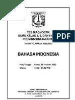Soal Tes Diagnostik Guru SD Bhs Indonesia