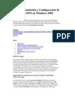 Guía de Instalación y Configuración de Servidores DNS en Windows 2003
