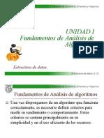 Clase 1 Fundamentos de Analisis de Algoritmos