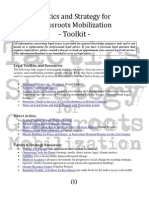 Tactics and Strategy for Grass Roots Mobilization Toolkit (2012)