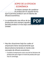 EL PRINCIPIO DE LA EFICACIA ECONÓMICA