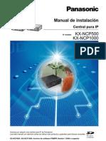 Manual de Instalacion Centrales Panasonic NCP500 NCP1000