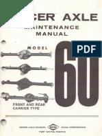 Dana Spicer 60 Axle Maintenance