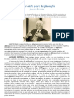 Jacques Derrida - Tener oído para la filosofía