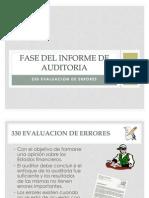 Fase Del Informe de Auditoria