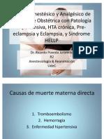 Pre-eclampsia, Eclampsia, Hipertensión Crónica y Anestesia