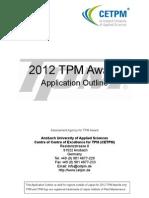 Application Outline 2012