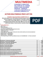 Action Multimedia Feb Price List