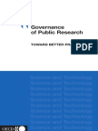 !!!!!Ocde - Governance of Public Research Toward Better Practices