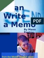 I Can Write a Memo