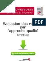 Evaluation Des Risques Par l Approche Qualite