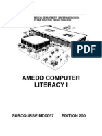 US Army Medical Course MD0057-200 - Amedd Computer Literacy I
