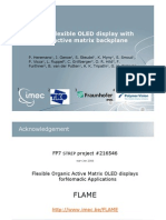 Towards a Flexible OLED Display With an Organic