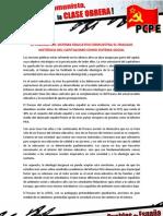EL FRACASO DEL SISTEMA EDUCATIVO DEMUESTRA EL FRACASO HISTÓRICO DEL CAPITALISMO COMO SISTEMA SOCIAL