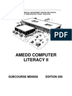 US Army Medical Course MD0058-200 - Amedd Computer Literacy II