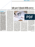 """""""Una Legge Speciale per i danni della neve"""" - Il Resto del Carlino del 23 febbraio 2012"""