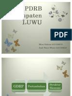 PDRB Kabupaten LUWU