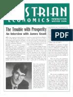 Austrian Economics Newsletter Winter 1996