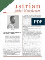 Austrian Economics Newsletter Fall 1996