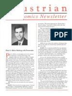 Austrian Economics Newsletter Winter 1995