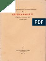 Krishnamurti Italie et Norvège 1933